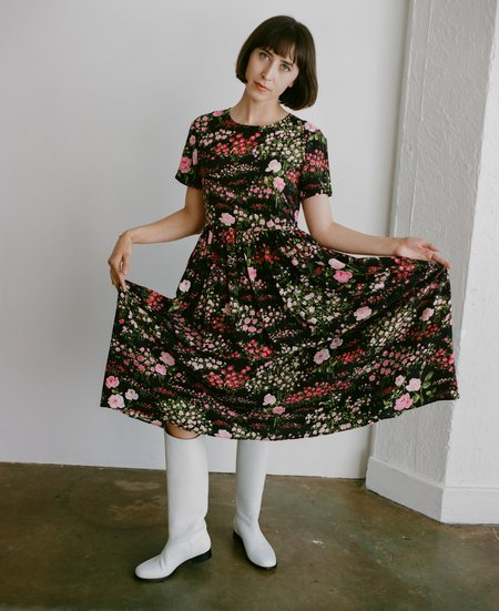 No.6 Maeve Dress - Black English Garden
