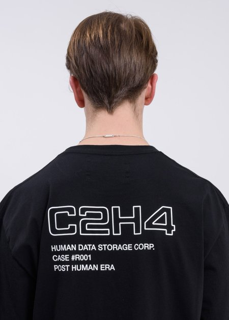 C2H4 Layer Pocket Logo T-Shirt - black