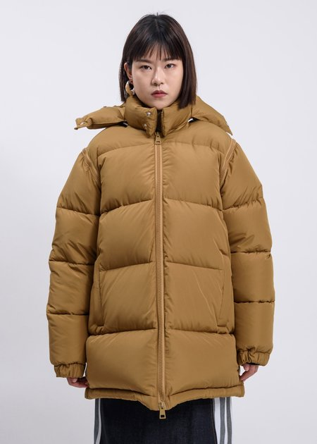 Sunnei Long Puffy Jacket - Carmel