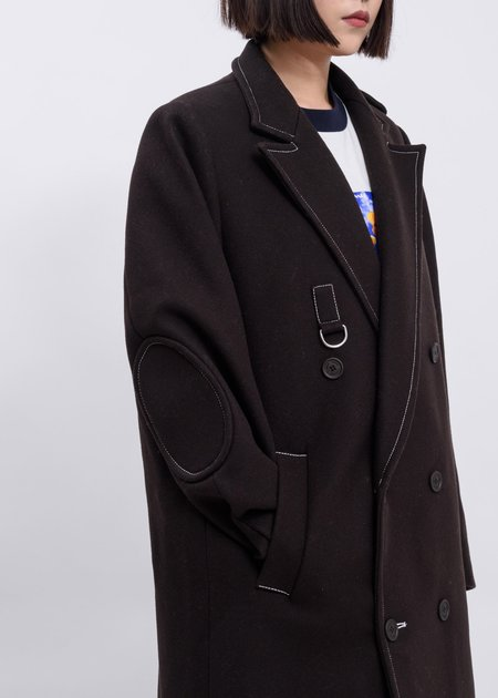 Sunnei Classic Coat - Dark Brown