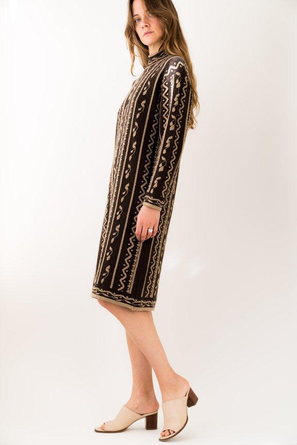 Backtalk PDX Vintage Knit Pattern Dress