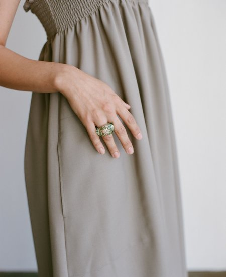 Maryam Nassir Zadeh Mosaic Ring - Green