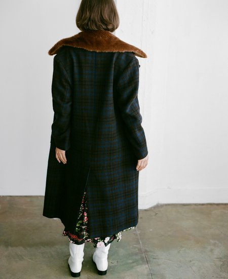 No.6 Edgar Coat - Espresso/Navy