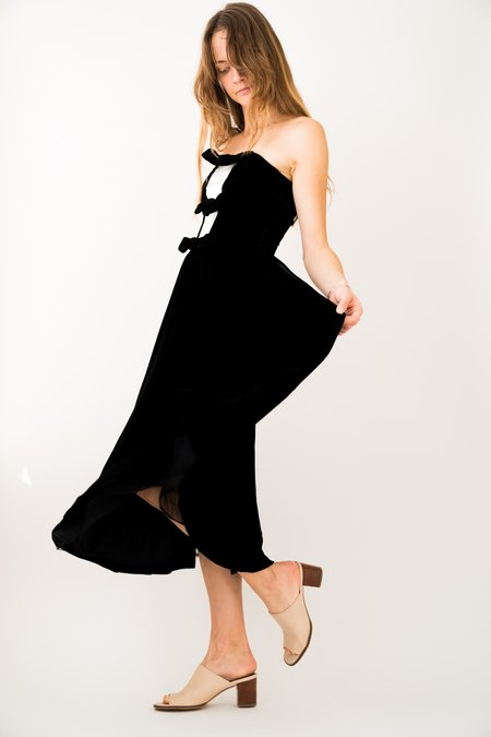 Backtalk PDX Vintage Velvet Tuxedo Dress Holiday