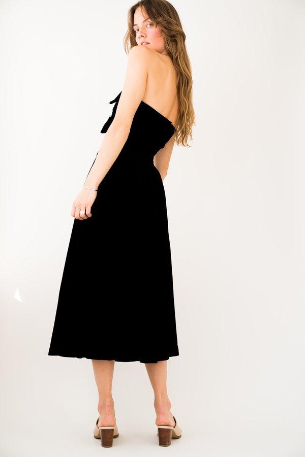 Backtalk PDX Vintage Velvet Tuxedo Dress Holiday