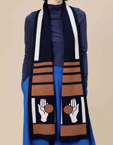 Matter Matters Gallery CHANCE Knit Scarf - Brown