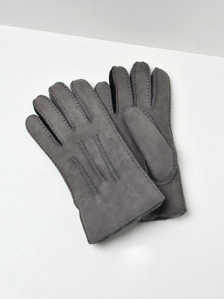UGG CONTRAST SHEEPSKIN GLOVE - CHARCOAL