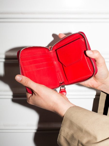 Park Bags Small Leather Wallet - Red