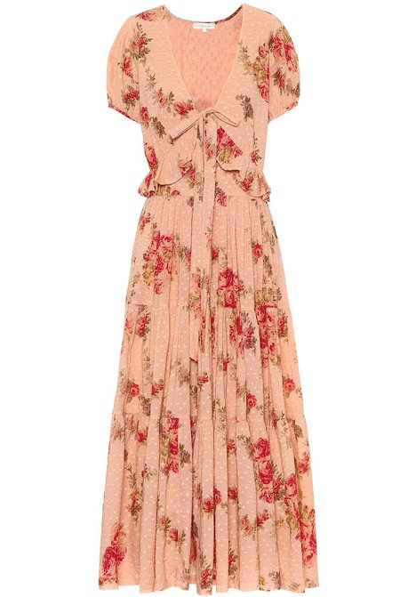 LoveShackFancy Carlton Dress - Pink