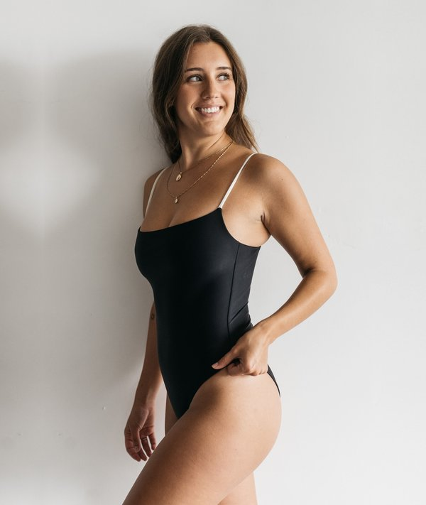 The Saltwater Collective Paulina One Piece - Black/Ivory