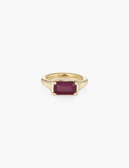 Kathryn Bentley Ruby step cut ring - 18k gold