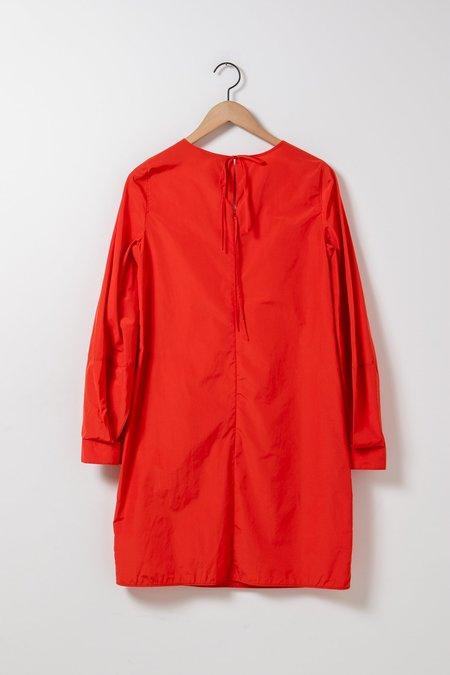 Dorothee Schumacher Taffeta Revolution Dress - Blood Orange