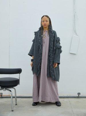Atelier Delphine Haori Coat With Fringes