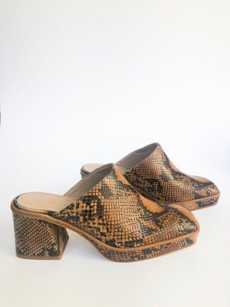 Paloma Wool mercurio mule - brown snakeskin