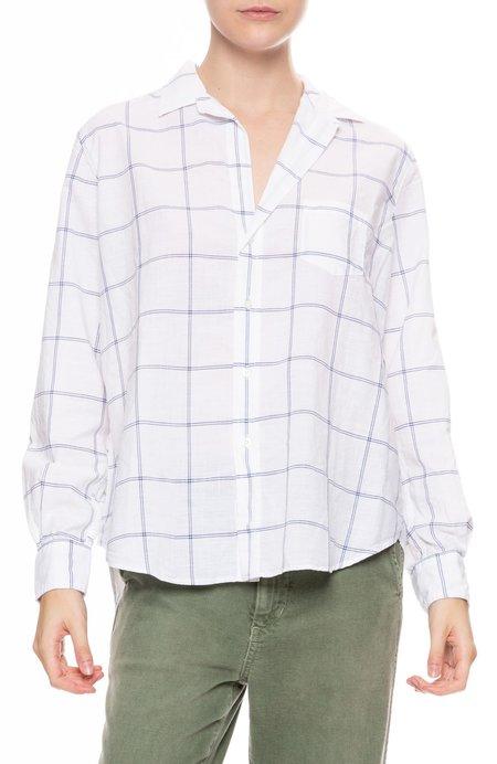 Frank & Eileen Eileen Cotton Chambray Shirt - BLUE/WHITE GRID