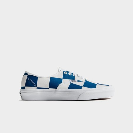 VANS Authentic Leather Check Sneakers - White/Blue