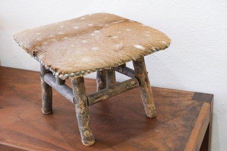 Vintage SCV Home Deerhide Footstool