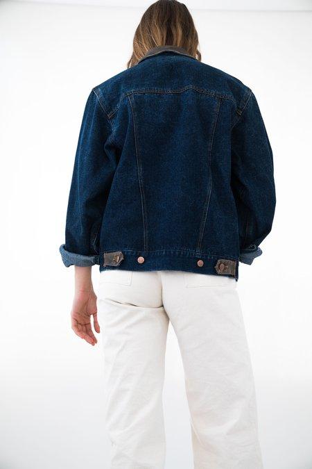 Backtalk PDX Vintage Denim Jacket With Leather - Dark wash