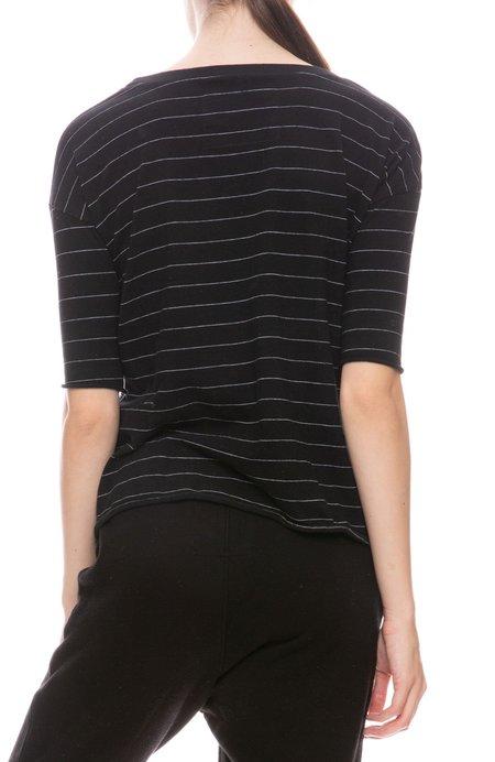 Frank & Eileen Jersey Fine Stripe T-Shirt - Black/White