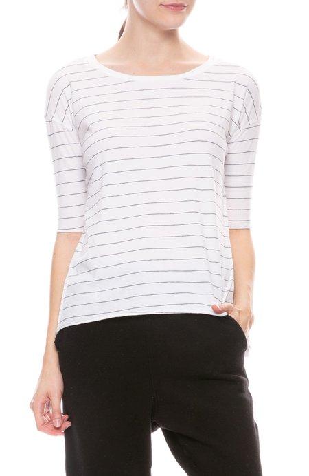 FRANK & EILEEN TEE LAB Jersey Striped T Shirt - WHITE/BLACK STRIPE