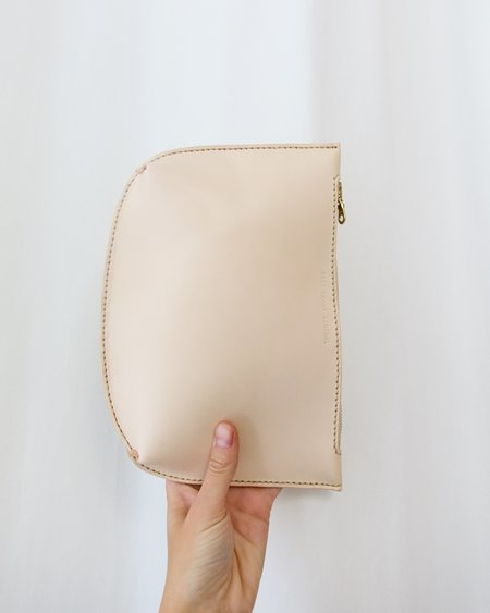 East Coast General Handmade Zip Pouch - Natural