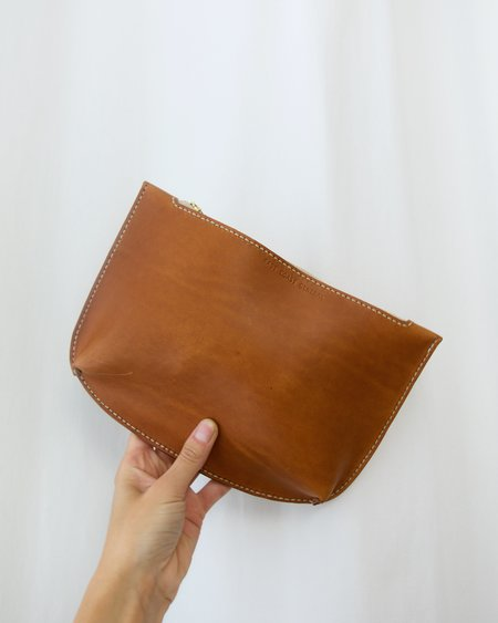 East Coast General Handmade Zip Pouch - Tan