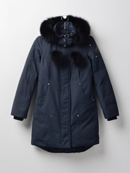 MOOSE KNUCKLES STIRLING PARKA - GRANITE/BLACK