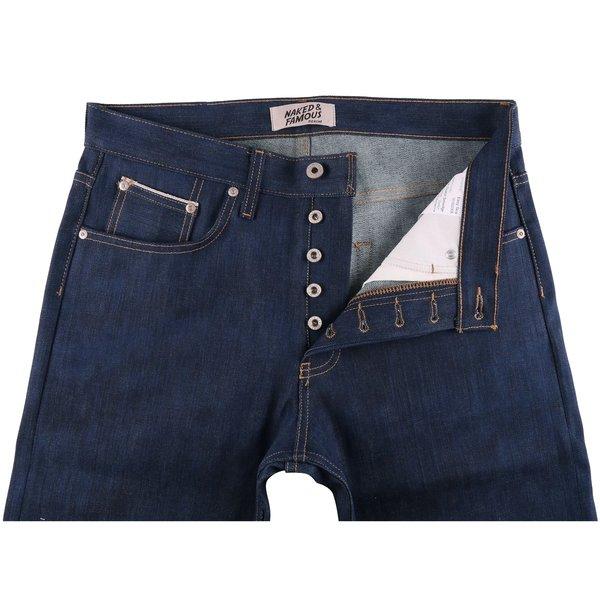 Naked & Famous Kasuri Stretch Selvedge Jeans