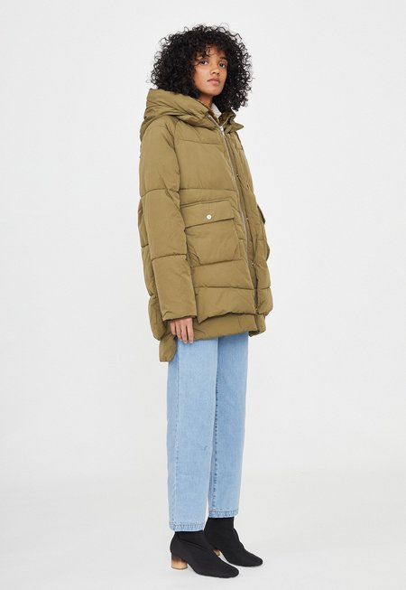 Embassy of Bricks & Logs Lydon Faux Down Jacket - Olive
