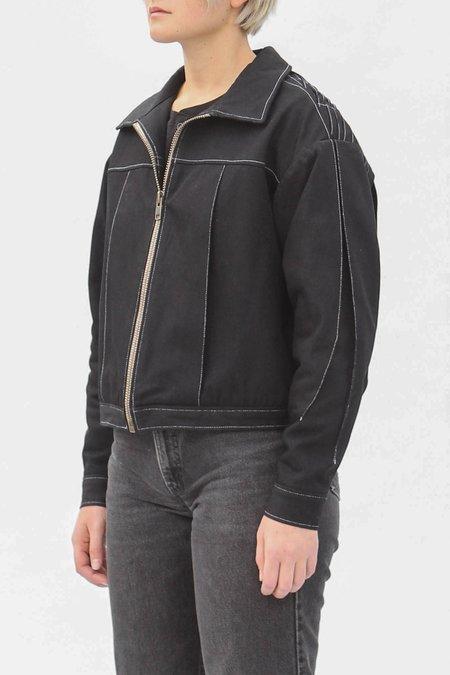 AndAgain Pleated Jacket - Black