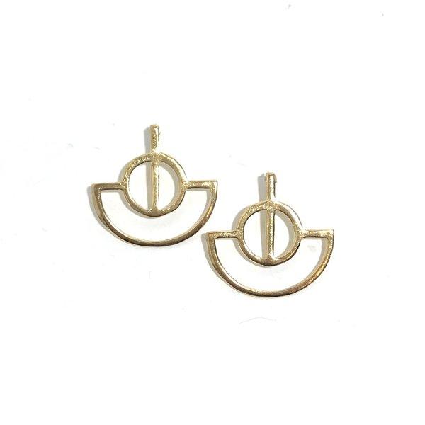 PAR ICI Fan Earrings