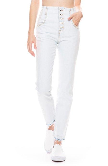 Jonathan Simkhai Classic High Rise Jeans - SUN BLEACHED INDIGO