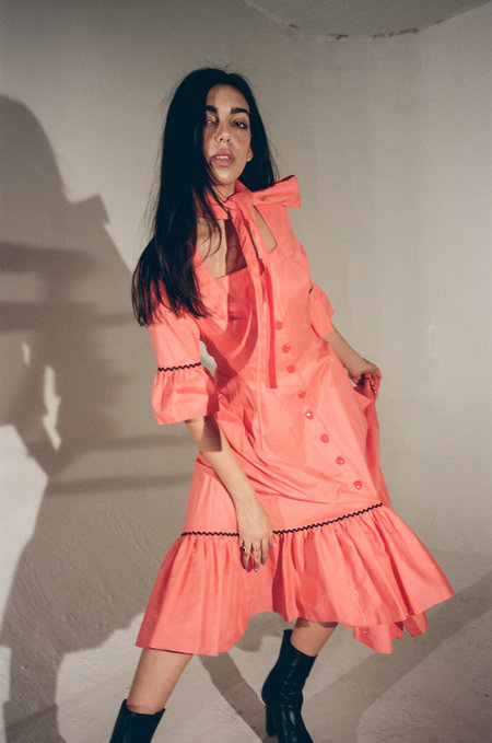 BATSHEVA Delsy Dress - Coral