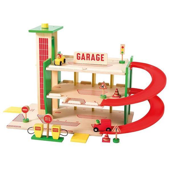 Kids Moulin Roty Dans La Ville Wooden Garage