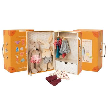 Kids Moulin Roty La Grande Famille Little Wardrobe Suitcase