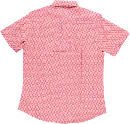 Dushyant Asthana Hand-Printed The Folk Short Sleeve Shirt - Leaf/Light Red