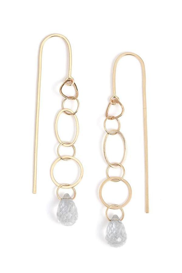Melissa Joy Manning White Topaz Shape Study Earrings