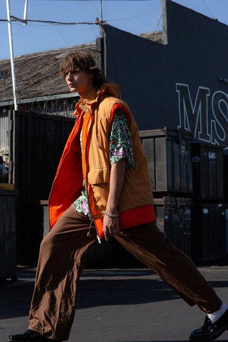 Marni Layered Padded Duvet Zipper Vest - Orange