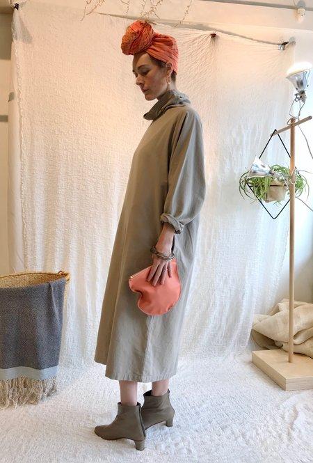 Black Crane Tube Dress - Ash