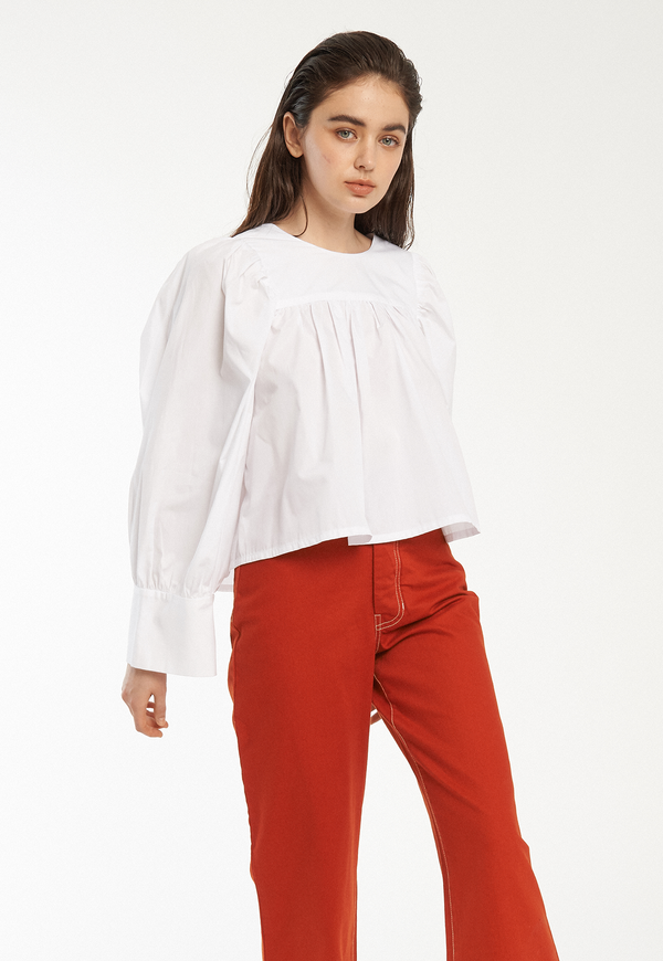 Toit Volant Baby Doll Oversized Cuff Top