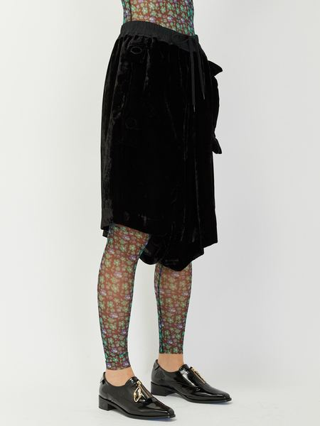 Unisex Bernhard Willhelm Lay Big Pocket Shorts - Black