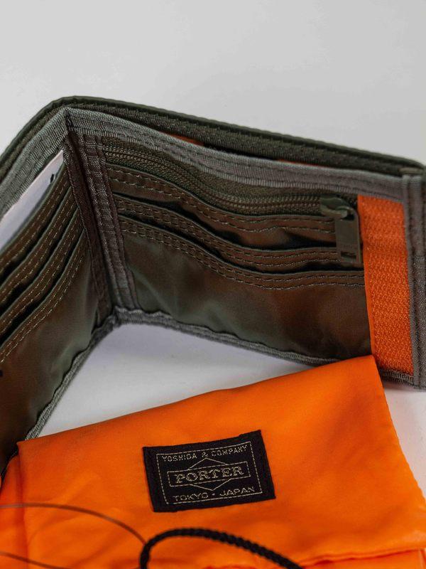 Porter Tanker nylon Long Wallet - Sage