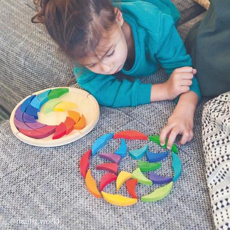 Kids Grimm's Rainbow Colourwheel Building Set