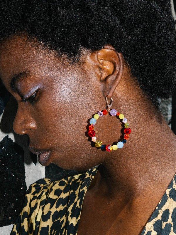 SJO Jewelry Marguerite Hoop Earrings