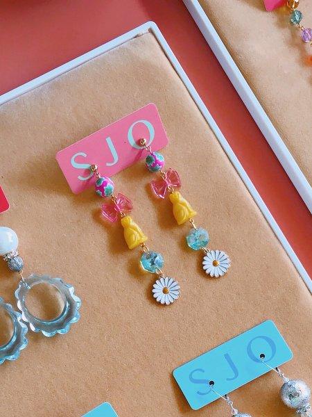 SJO Jewelry Tiger Lily Lovecats Earrings