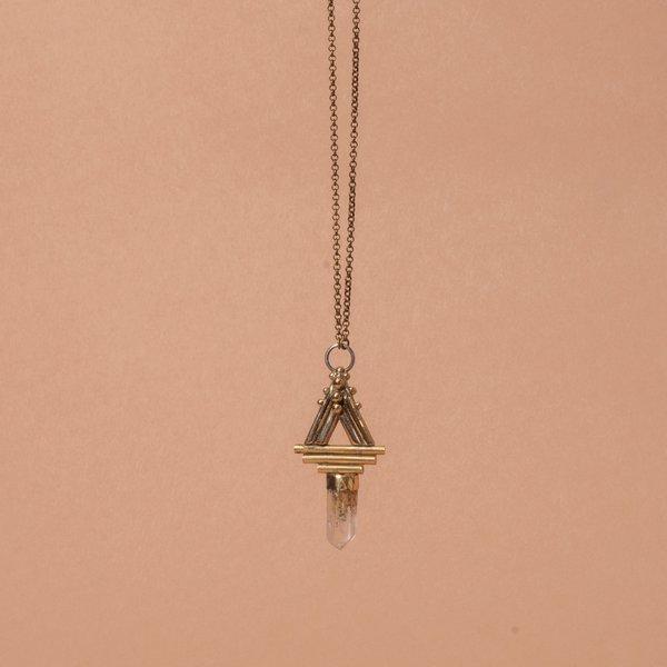 Stray Phantom Quartz Amulet Necklace