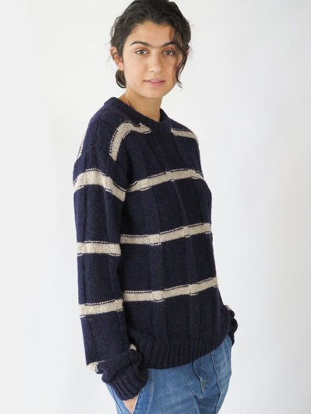 aymara ringo sweater - navy/camel