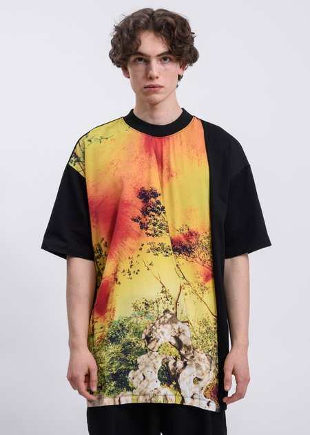 CORNERSTONE Guohua Panel T-Shirt - Black/Yellow