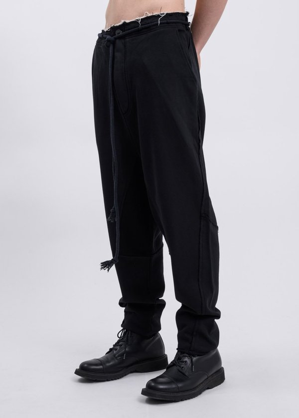 Faineant Drop Crotch Trousers - Black