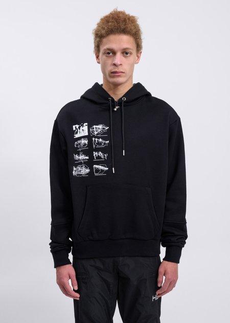 Heliot Emil Hoodie With Inside Tech Hood - Black